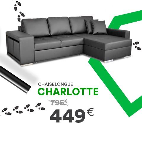 Chaise Longue com Cama Charlotte PU