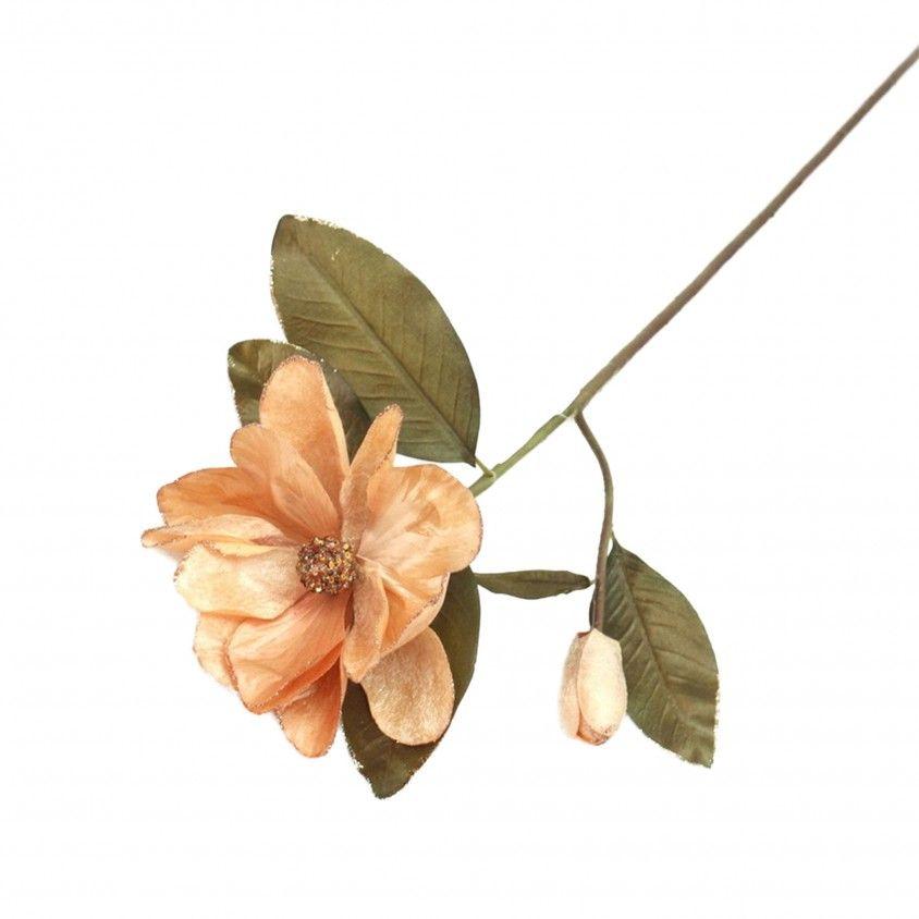 Flor Artificial Magnólia com Folhas