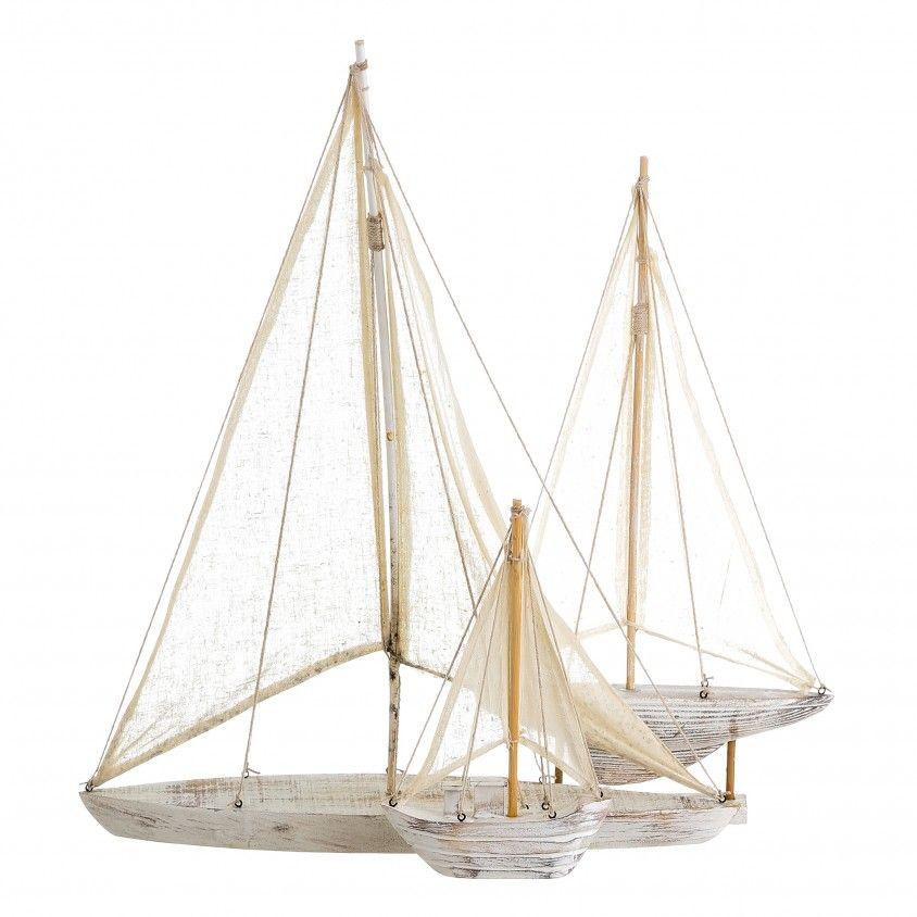 Figura Veleiro Madeira/Tecido