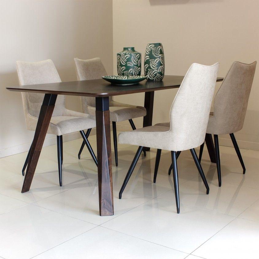 Mesa Nancy Wengue com 4 Cadeiras Pescara