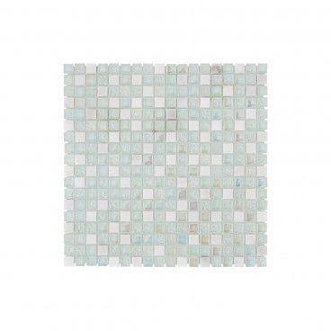 Pastilha Pedra Natural/Vidro Branco 30x30
