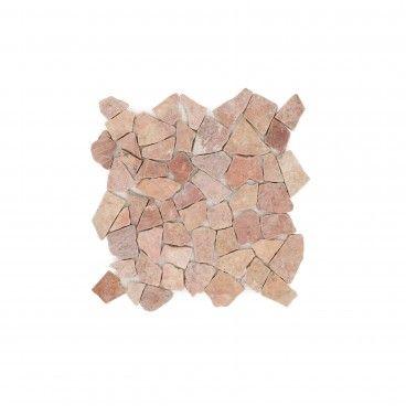 Mosaico Mármore Irregular Rosa 30x30