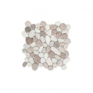 Mosaico Mármore Seixo Creme 30x30
