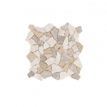 Mosaico Mármore Irregular Amarelo/Cinza 30x30