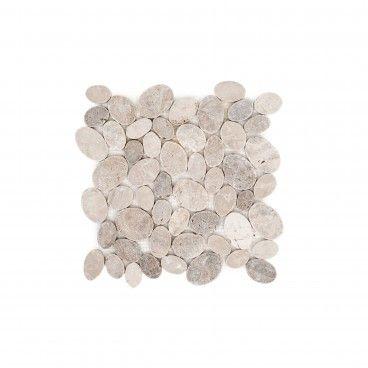 Mosaico Mármore Oval Mistura Brancos 30x30