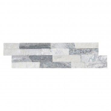 Quartzito Branco/Cinza 15x55