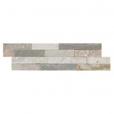 Quartzito Branco/Cinza/Rosa 15x55