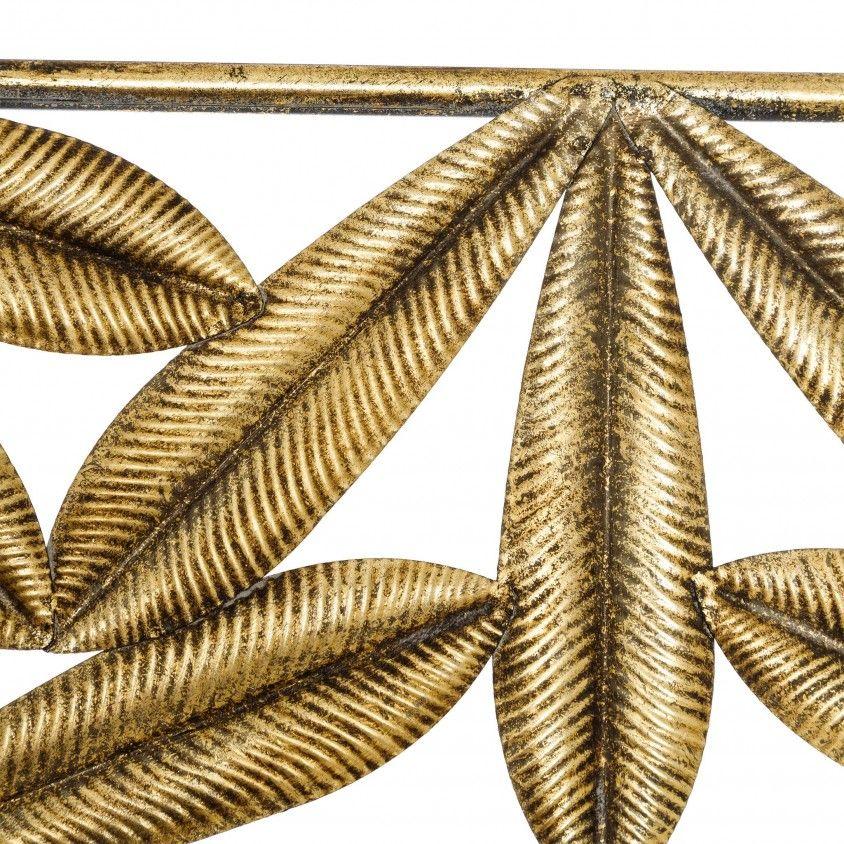 Espelho Decorativo Folhas Ouro