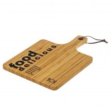 Tábua de Cortar Bambu Retangular com Pega