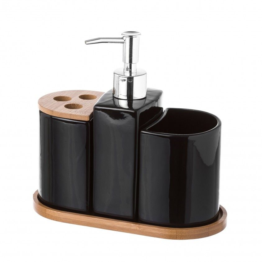 Conjunto de Banho 3 Peças Bambu