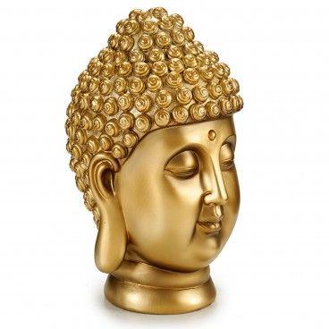 Figura Decorativa Cabeça de Buda