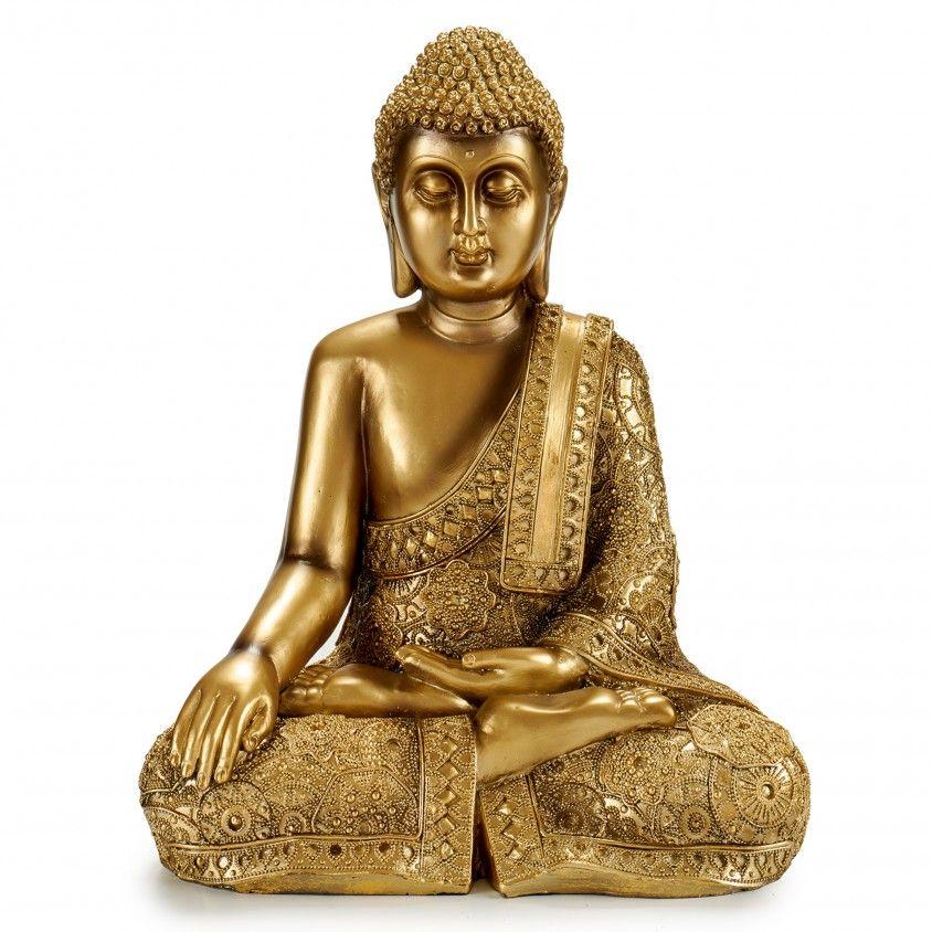 Figura Decorativa Buda a Pensar com Manto