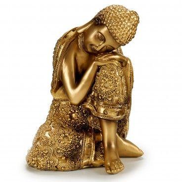 Figura Decorativa Buda a Descansar com Manto