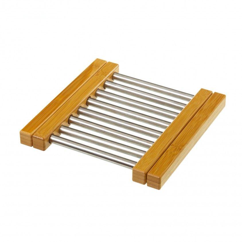 Base de Panela Dobrável Bambu