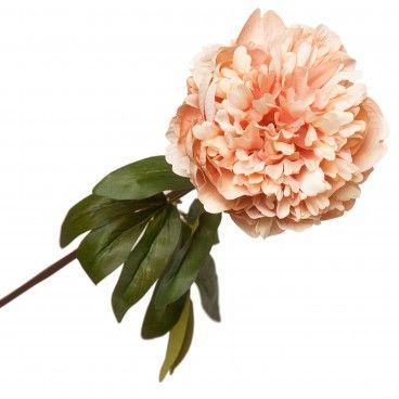 Flor Artifical Peónia com Folha