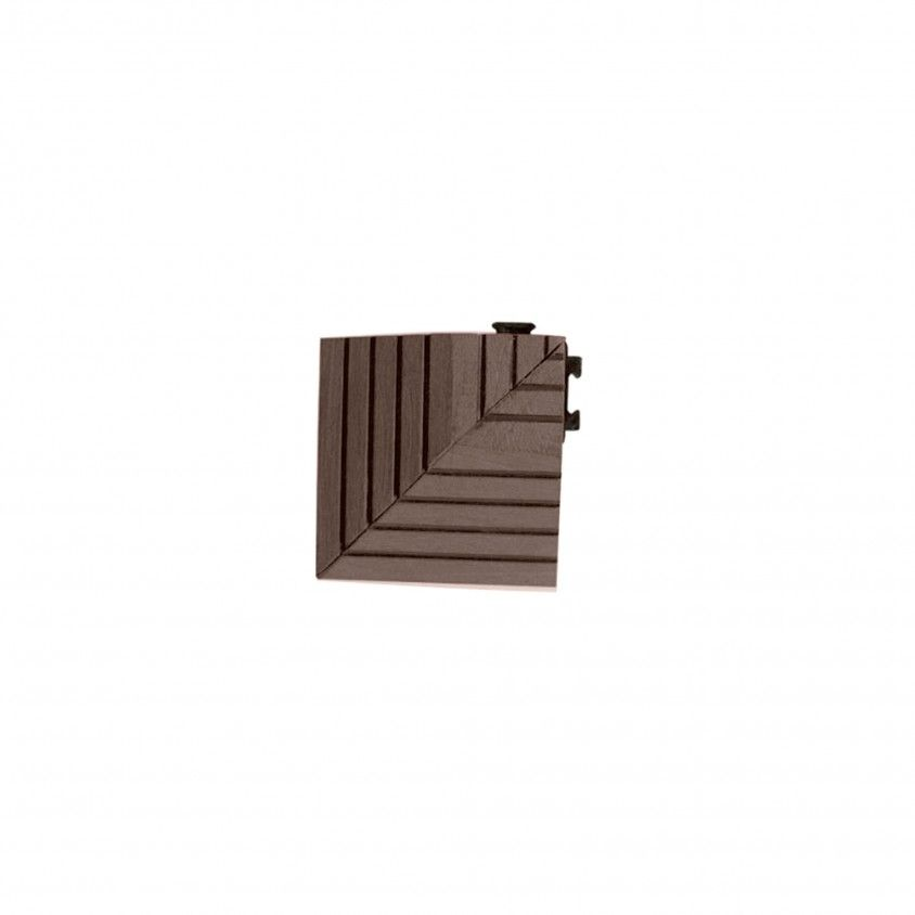 Canto para Deck Compósito 7.5x7.5x2.2cm