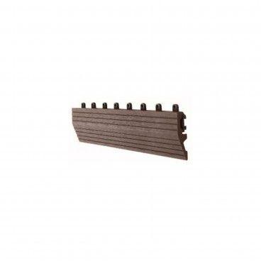 Perfil de Transição com Encaixe para Deck Compósito 30x7.5x2.2cm
