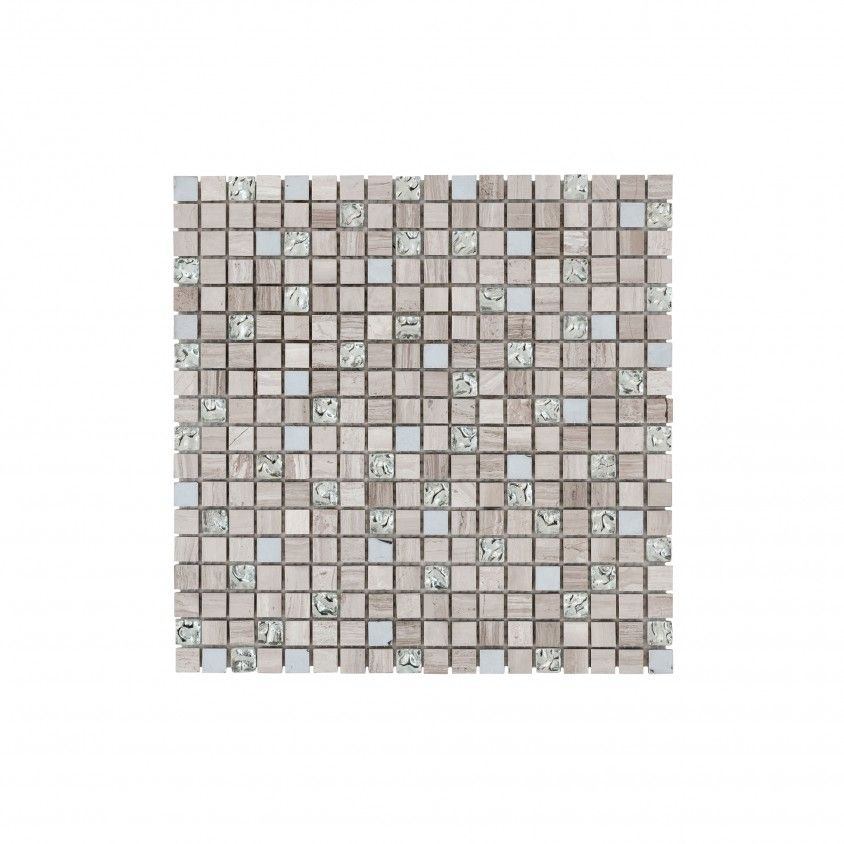 Pastilha Pedra Natural/Vidro Cinza Claro 30x30