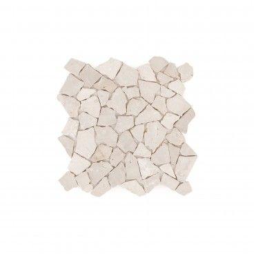 Mosaico Mármore Irregular Branco 30x30