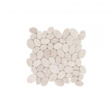 Mosaico Mármore Oval Branco 30x30