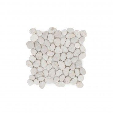 Mosaico Mármore Seixo Branco 30x30