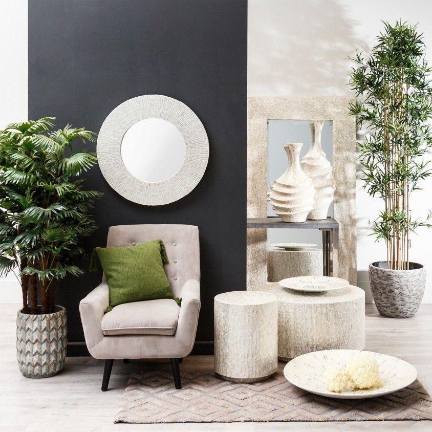 Mesinha Capiz Room 40x40x50
