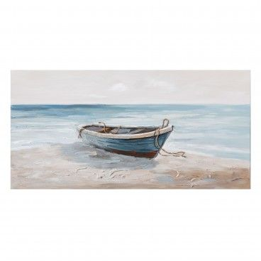 Quadro Pintado Barca