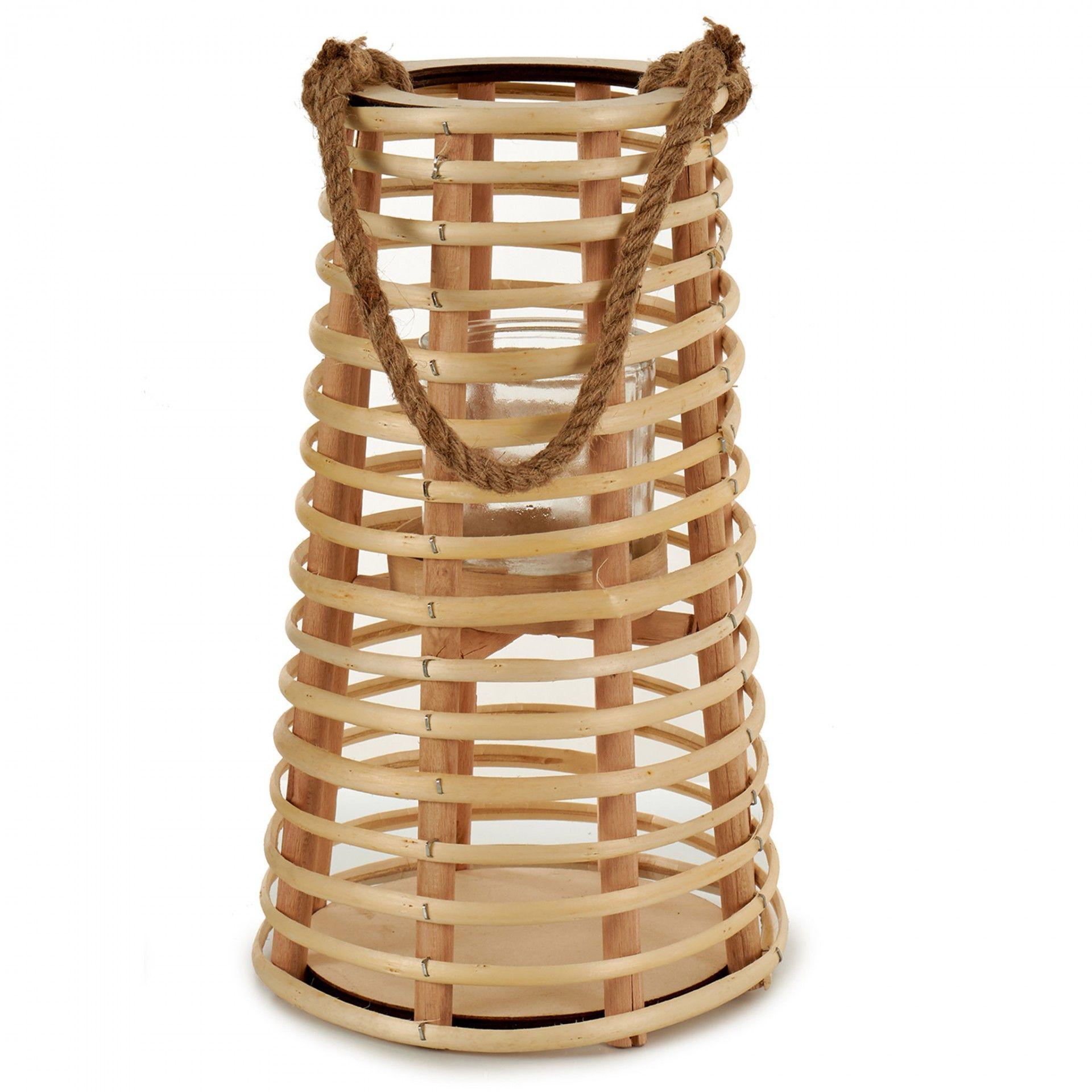 Porta vela em bambu ! Moviflor