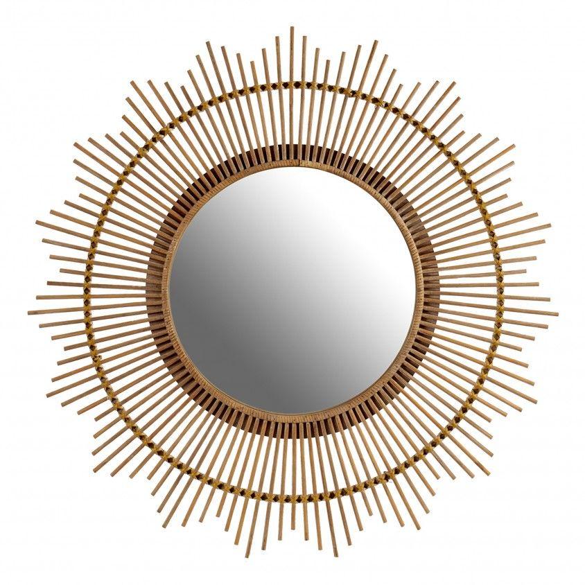 Espelho Forma Cana Natural