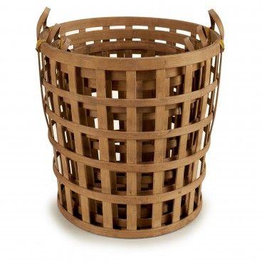 Conjunto 3 Cestos Bambu Base Redonda