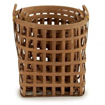 Conjunto 3 Cestos Bambu Base Quadrada