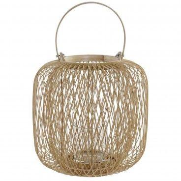 Portavela Bambu/Vidro 2