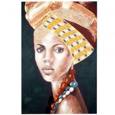 Quadro Africana com Turbante