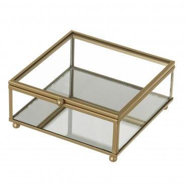 Caixa Vidro /Metal