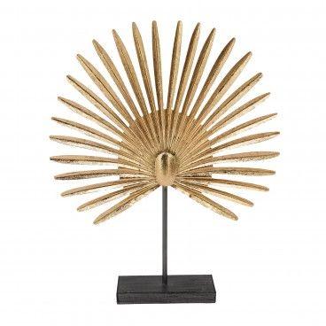 Folha de Palma Decorativa Dourada
