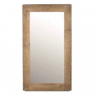 Espelho Retangular Moldura Madeira
