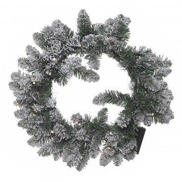 Coroa de Natal com Neve