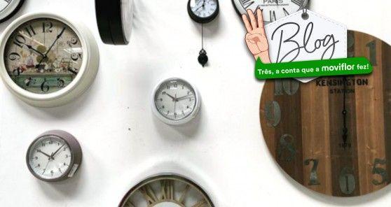 Hoje muda a hora. Descubra 3 relógios de parede de diferentes estilos para compor o seu ambiente
