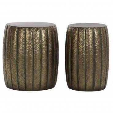 Conjunto 2 Tamboretes Metalic