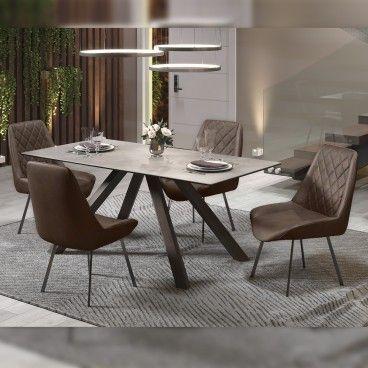 Mesa Roma Granito Claro com 4 Cadeiras Pisa