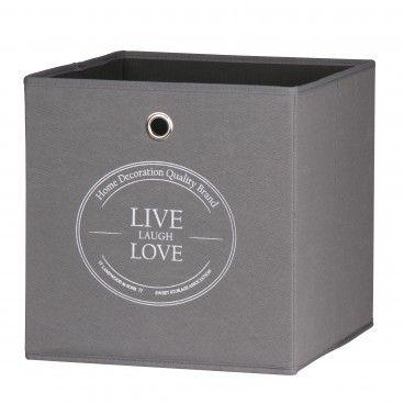 Caixa de Arrumação para Estante Home Live Love