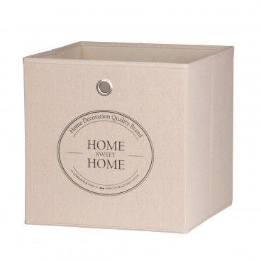 Caixa de Arrumação para Estante Home Sweet Home