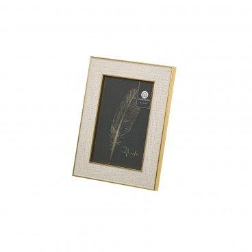 Porta-Fotos Ps Branco-Ouro