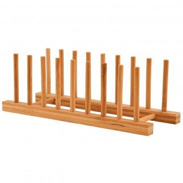 Suporte para Pratos em Bambu